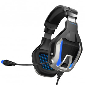 ONIKUMA Gaming Headset Super Bass LED with Microphone - K12 - Black/Blue