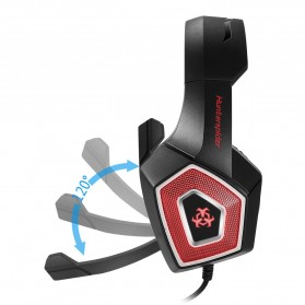 ONIKUMA Hunterspider Gaming Headset Super Bass LED with Microphone - V1 - Black/Red - 8