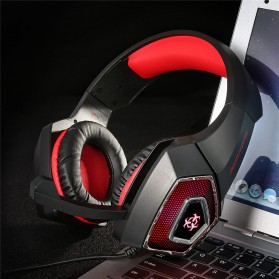 ONIKUMA Hunterspider Gaming Headset Super Bass LED with Microphone - V1 - Black/Red - 9