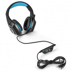 ONIKUMA Hunterspider Gaming Headset Super Bass LED with Microphone - V1 - Black/Blue - 5
