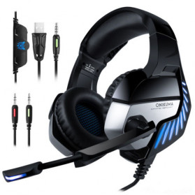 ONIKUMA Gaming Headset Super Bass LED with Microphone - K5 Pro - Black/Blue
