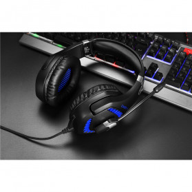 ONIKUMA Gaming Headset Super Bass LED with Microphone - K1B Pro - Black/Blue - 11