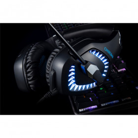 ONIKUMA Gaming Headset Super Bass LED with Microphone - K1B Pro - Black/Blue - 12