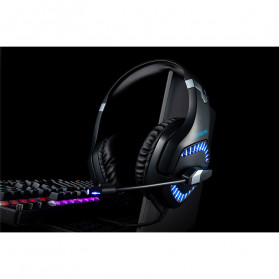 ONIKUMA Gaming Headset Super Bass LED with Microphone - K1B Pro - Black/Blue - 13