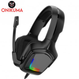 ONIKUMA Gaming Headset Super Bass LED with Microphone - K20 - Black