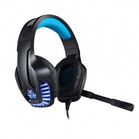 HUNTERSPIDER Gaming Headphone Headset LED with Mic - V6 - Black - 2