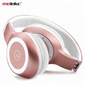 Moloke Wireless Stereo Bluetooth Headphone with Mic - T8 - Black - 2