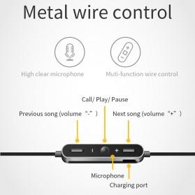 Moloke Bluetooth Sport Earphone - D9 - Gray - 3