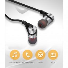 Moloke Bluetooth Sport Earphone - D9 - Gray - 9