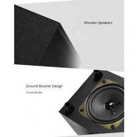 SADA SL-8018 Speaker Stereo 2.1 Wood with Subwoofer & USB Power - Black/Red - 5
