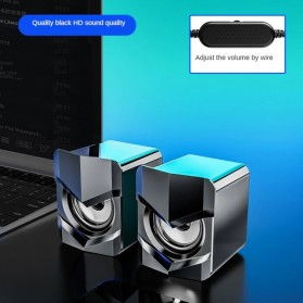SADA Desktop Speaker Pengeras Suara Stereo 2.1 USB Power - V-158 - Black
