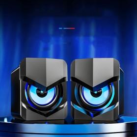 SADA Desktop Speaker Pengeras Suara Stereo 2.1 USB Power - V-158 - Black - 4