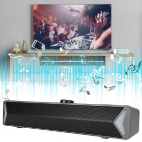 SADA Soundbar Home Desktop Speaker HiFi Stereo Heavy Bass - D6 - Black