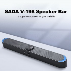 SADA Soundbar Home Desktop Speaker HiFi Stereo Heavy Bass - V-198 - Black