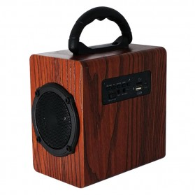Kingneed Bluetooth Speaker Wood Design - S303 - Brown