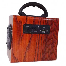 Kingneed Bluetooth Speaker Wood Design - S303 - Brown - 2