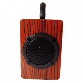 Kingneed Bluetooth Speaker Wood Design - S303 - Brown - 3