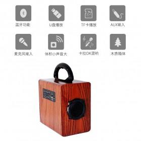 Kingneed Bluetooth Speaker Wood Design - S303 - Brown - 4