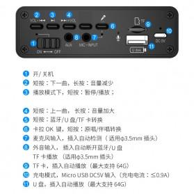 Kingneed Bluetooth Speaker Wood Design - S303 - Brown - 5