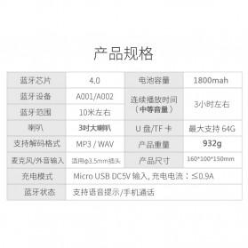 Kingneed Bluetooth Speaker Wood Design - S303 - Brown - 6
