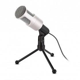 Yanmai Omnidirectional Condenser Microphone with Stand - SF-960B - Golden