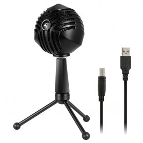Yanmai Capsule Cardioid Condenser Microphone USB with Stand - GM-888 - Black