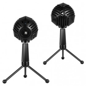 Yanmai Capsule Cardioid Condenser Microphone USB with Stand - GM-888 - Black - 3
