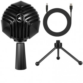 Yanmai Capsule Cardioid Condenser Microphone USB with Stand - GM-888 - Black - 10