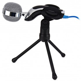 Yanmai Omnidirectional Condenser Microphone USB with Stand - SF-922B - Black