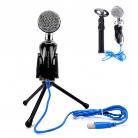 Yanmai Omnidirectional Condenser Microphone USB with Stand - SF-922B - Black - 2