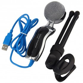Yanmai Omnidirectional Condenser Microphone USB with Stand - SF-922B - Black - 3
