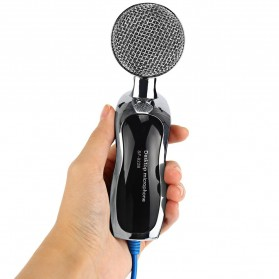 Yanmai Omnidirectional Condenser Microphone USB with Stand - SF-922B - Black - 4