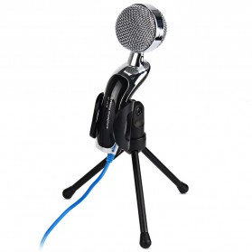 Yanmai Omnidirectional Condenser Microphone USB with Stand - SF-922B - Black - 5