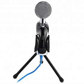Yanmai Omnidirectional Condenser Microphone USB with Stand - SF-922B - Black - 6