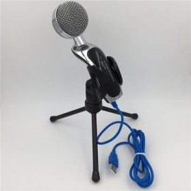 Yanmai Omnidirectional Condenser Microphone USB with Stand - SF-922B - Black - 9