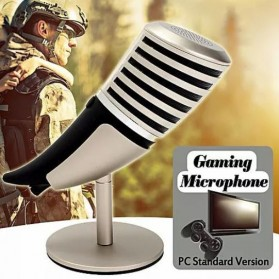 Yanmai Cardioid Condenser Microphone USB with Stand - SF-700B - Golden - 1