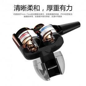 Fonge Earphone Dual Moving Coil Driver dengan Mic - R1 - Black - 5