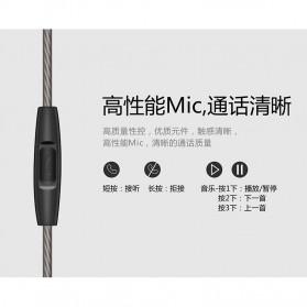 Fonge Earphone Dual Moving Coil Driver dengan Mic - R1 - Black - 6