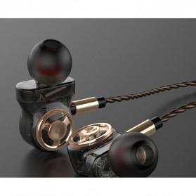 Fonge Earphone Super Bass 6 Core Driver dengan Mic - SD01 - Black - 4