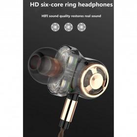 Fonge Earphone Super Bass 6 Core Driver dengan Mic - SD01 - Black - 5