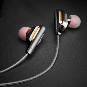 Fonge Earphone Super Bass Double Dynamic Driver dengan Mic - X3 - Black - 10