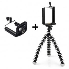 Flexible Small Tripod Gorillapod + Smartphone Clamp - Z08-S