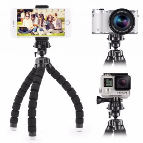 JCKEL Flexible Octopus Tripod with Smartphone Holder - MS-5 - Black