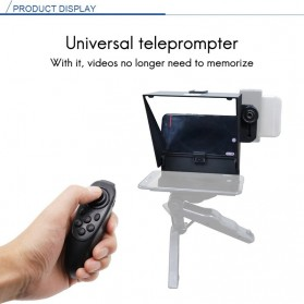 AMBITFUL Mini Teleprompter Portable Inscriber Autocue with Remote - TLM1 - Black - 6