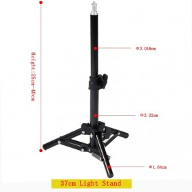 OUTMIX Light Stand Photo Studio Adjustable Portable Tripod 1/4 Thread 37 cm  - SN400 - Black - 5