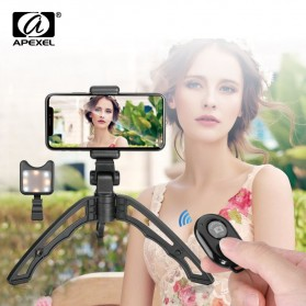 APEXEL SwitchPod Vlogging Mini Tripod + Remote + Ring Light - APL-JJ04BL - Black