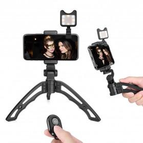 APEXEL SwitchPod Vlogging Mini Tripod + Remote + Ring Light - APL-JJ04BL - Black - 2