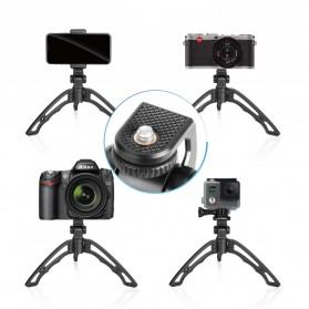 APEXEL SwitchPod Vlogging Mini Tripod + Remote + Ring Light - APL-JJ04BL - Black - 5