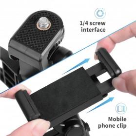 APEXEL SwitchPod Vlogging Mini Tripod + Remote + Ring Light - APL-JJ04BL - Black - 8