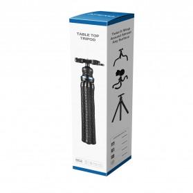 APEXEL Mini Tripod Flexible with 1/4 Universal Smartphone Clip - APL-JJ05 - Black - 2